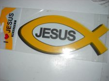 Buy Christian JESUS Ribbon Magnet 8 inch tall strong car Fish shape magnet
