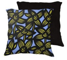 Buy 22x22 Salon Yellow Black Blue Pillow Flowers Floral Botanical Cover Cushion Case Thro
