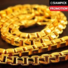"""Buy 28"""" Thai Baht 22k 24k Yellow Gold Plated GP Box Chain Necklace Jewelry Mens N020"""