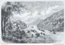 Buy CHINA - NAVIGATION THROUGH THE RAPIDS - engraving from 1875