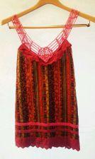 Buy EUC womens, Sz., multi-colored, sleeveless, braided/beaded strap blouse