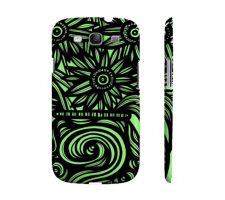 Buy Tone Green Black Flowers Samsung Galaxy S3 Phone Case