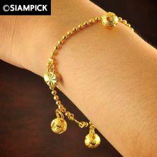Buy Thai 22k 24k Baht Yellow Gold Plated GP Bead Bracelet Chain Bangle Jewelry B021