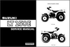 Buy 85-86 Suzuki LT250E QuadRunner Service Repair Workshop Manual CD .. LT 250E 250