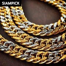 """Buy 24"""" Thai Baht 22k 24k Yellow Gold Plated Cuban Curb Chain Necklace Jewelry N027"""