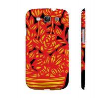 Buy Potaczala Yellow Red Black Flowers Samsung Galaxy S3 Phone Case