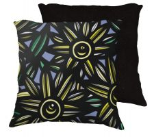 Buy Csubak 18x18 Yellow Blue Black Pillow Flowers Floral Botanical Cover Cushion Case Thr