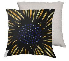 Buy Afable 18X18 Yellow Blue Flowers Floral Botanical White Back Cushion Case Throw Pillo