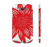 Buy Menapace Red White Samsung Galaxy S3 Phone Case Flowers Botanical