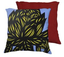 Buy Carda 18X18 Yellow Blue Flowers Floral Botanical Red Back Cushion Case Throw Pillow C