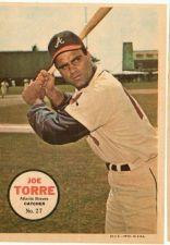 Buy VINTAGE 1967 TOPPS PIN-UP POSTER #237 JOE TORRE BRAVES NICE