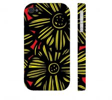 Buy Mandelbaum Yellow Red Iphone 4/4S Apple Phone Case Flowers Botanical