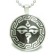 Buy Positive Energy Powers Yin Yang Amulet Crystal Point Simulated Turquoise Pendant