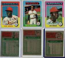 Buy VINTAGE 3 CARD LOT 1975 TOPPS - LOU BROCK #540, BOB GIBSON #150 & WILLIE McCOVEY