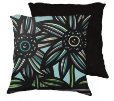 Buy Nanthanong 18x18 Green Red Black Pillow Flowers Floral Botanical Cover Cushion Case T