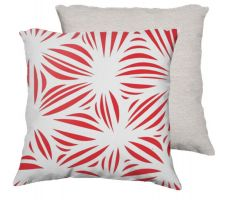 Buy Kermes 18X18 Red White White Back Cushion Case Throw Pillow Cover 631 Art