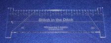 "Buy 9"" Stitch in the Ditch Ruler. Acrylic ~1/4"" thick. Quilting/Sewing"