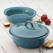 Buy NEW Rachael Ray Casserole Dish Stoneware 2 Quart Baking Set Blue