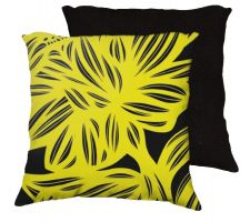 Buy Rosenbloom 18x18 Yellow Black Pillow Flowers Floral Botanical Cover Cushion Case Thro
