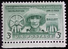 Buy 1949 3c Puerto Rico Election, Ballot Scott 983 Mint F/VF NH