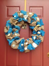 Buy Burlap Sea Shell Door Wreath Handmade USA Seller