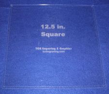 """Buy Quilting Template - 12.5"""" Square w/Seam -- 1/8"""" Clear Acrylic"""
