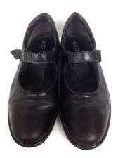 Buy Ecco Shoes Womens 40 9 Black Leather Loafers
