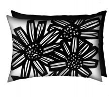 Buy Gowins 18x18 Red Green White Black Pillow Flowers Floral Botanical Cover Cushion Case