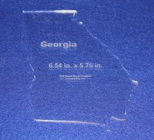 """Buy State of Georgia 6.54"""" x 5.75"""" ~ 1/4"""" Quilt Template- Acrylic - Long Arm/ Sew"""