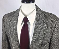 Buy Harris Tweed Blazer Mens 42 R Gray Wool Sport Coat Jacket
