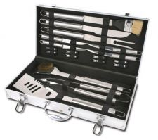 Buy 18 piece Stainless Steel Barbeque set w/Case