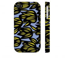 Buy Broten Yellow Blue Iphone 4/4S Apple Phone Case Flowers Botanical