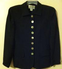 Buy Jones New York Black Women Silk Blazer Size 6