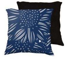 Buy 22x22 Ventrice Blue White Black Pillow Flowers Floral Botanical Cover Cushion Case Th