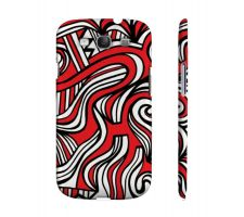 Buy Lough Red White Black Samsung Galaxy S3 Phone Case
