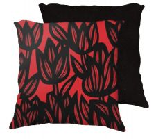 Buy Stolp 18x18 Red Black Pillow Flowers Floral Botanical Cover Cushion Case Throw Pillow
