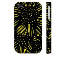 Buy Nothacker Yellow Black Iphone 4/4S Apple Phone Case Flowers Botanical