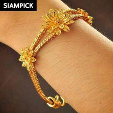 Buy 22k 24k Thai Baht Yellow Gold Plated Franco Chain Bangle Bracelet Jewelry B090