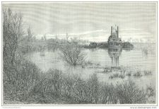 Buy CANADA - STEAMER ON RED RIVIERA AT LOW TIDE - engraving from 1878