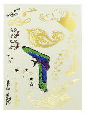 Buy Multi Symbol Metallic temp tattoo, henna tattoo,body art, Tattoo Jewelry , Gold
