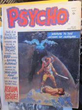 Buy PSYCHO #12 JEFF JONES COVER ART B&W 1973 G- range