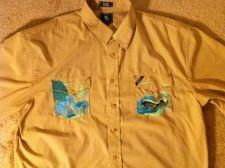 Buy Lifted Research Group LRG Button Collar Men Shirt Tan Brown Size 4XL
