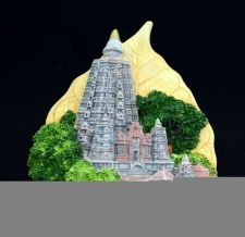 Buy 3D SCULPTURE FRIDGE MAGNET MEMORIAL OF BODH GAYA INDIA SOUVENIR COLLECTIBLE GIFT