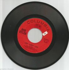 Buy BOB DYLAN: LAY LADY LAY Columbia 45 RPM RECORD 1960's Peggy Day ORIGINAL