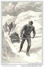 Buy GREENLAND - THE CARAVAN MARCHING - engraving from 1891