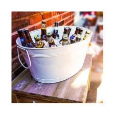 Buy BEVERAGE TUB OVAL GALVANIZED PARTY BUCKET