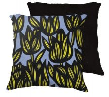 Buy 22x22 Rodemoyer Yellow Blue Black Pillow Flowers Floral Botanical Cover Cushion Case