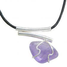 Buy Butterfly Quartz-Green Quartz Pendant Necklace on Black Leather Cord Pendant Necklace