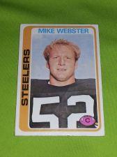 Buy VINTAGE MIKE WEBSTER STEELERS HOF SUPERSTAR 1976 TOPPS #351 FR-GD