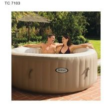 Buy Intex Pure Spa 4-Person Inflatable Portable Heated Bubble Hot Tub | 28403E